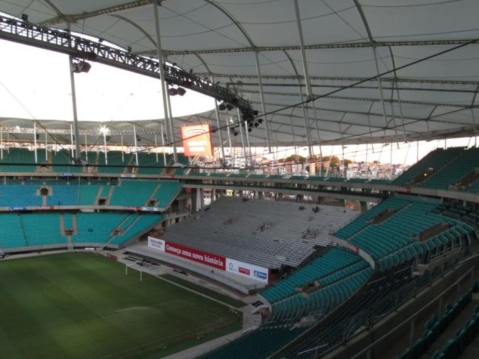 Vista parcial do Arena Fonte Nova