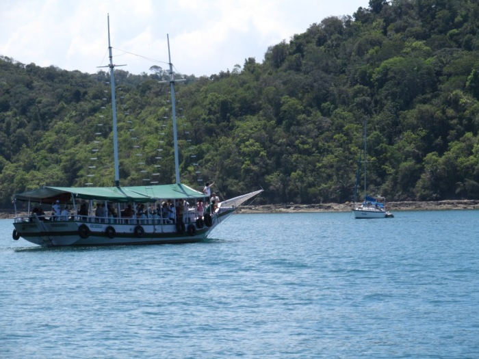 Chegada na Ilha dos Frades