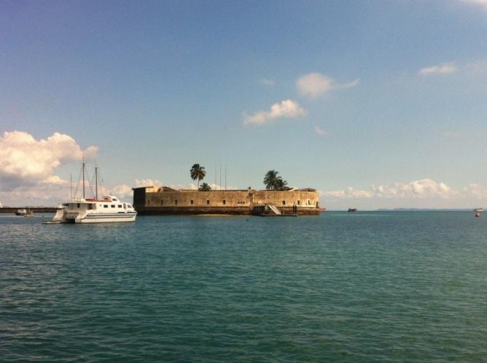 Forte de São Marcelo visto do Terminal Marítimo