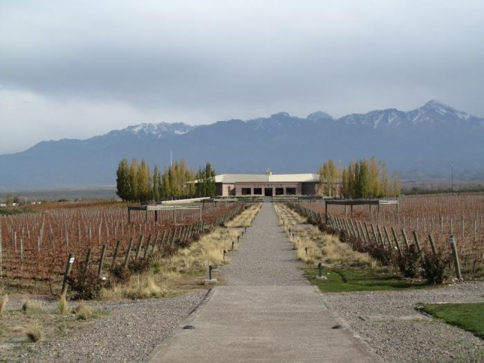 A vinícola tem vários prédios