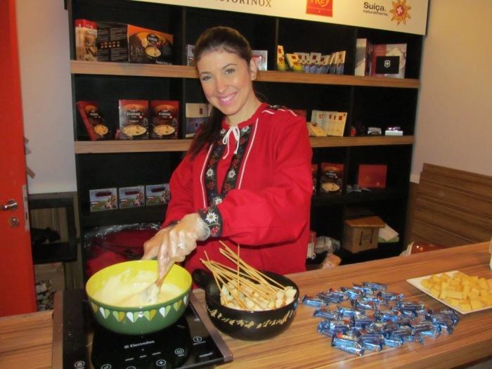 Degustação de fondue Emmi
