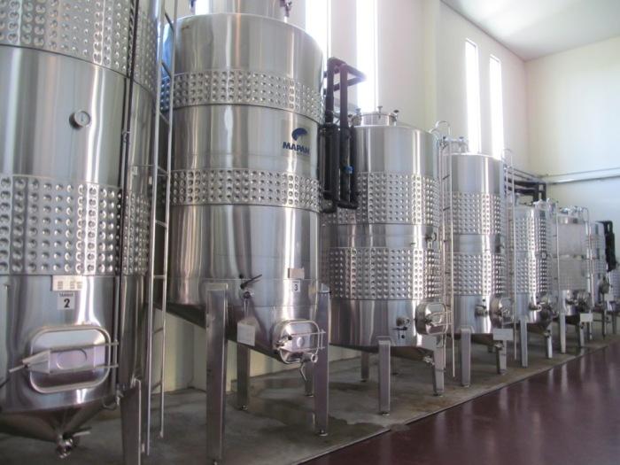 Os visitantes podem ver todo o processo de produção do vinho