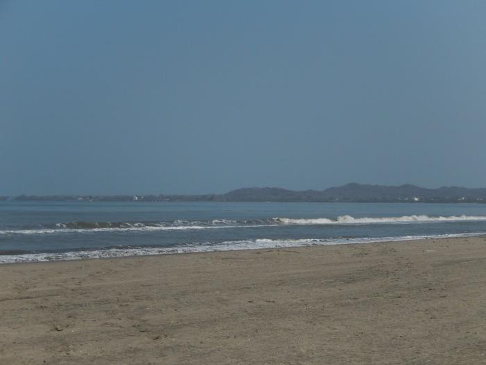 A praia em que o hotel fica