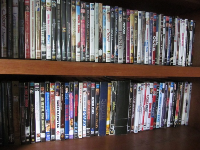 Dvds e jogos disponíveis para os hóspedes