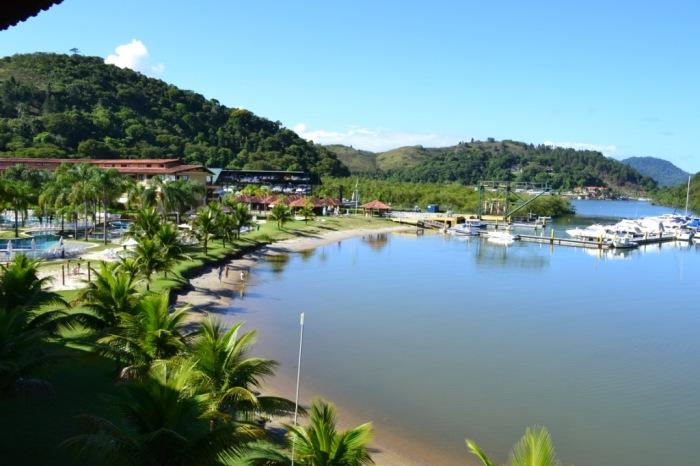 Marina e parte da área de lazer do resort