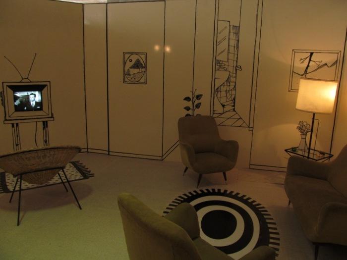 Sala da casa dos vizinhos da Mafalda