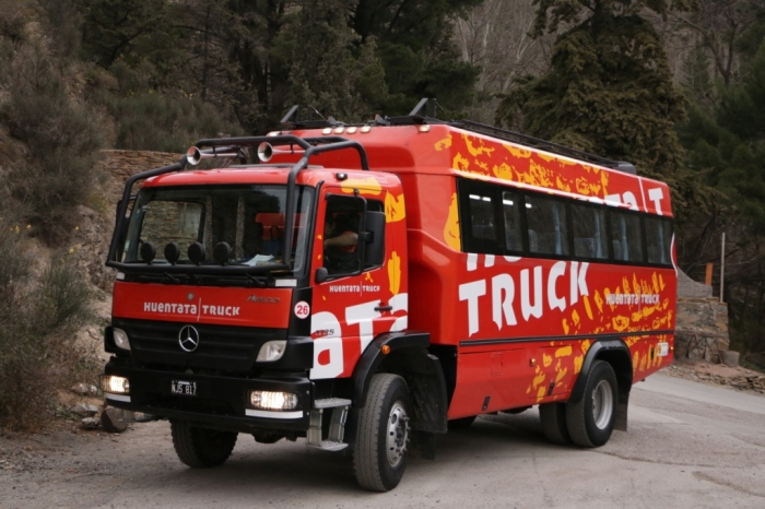 O caminhão da Huentata