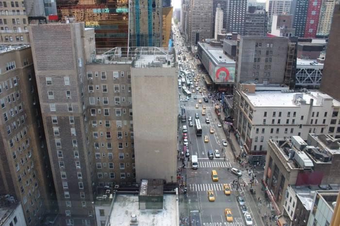 Vista do meu quarto para a 8ª Avenida