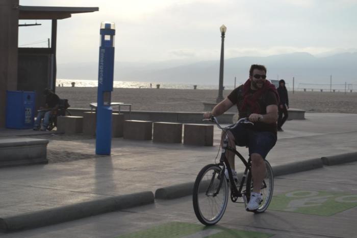 De bike em Santa Mônica