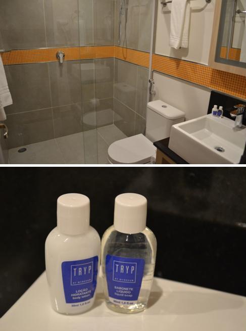 Meu banheiro com os amenities Tryp