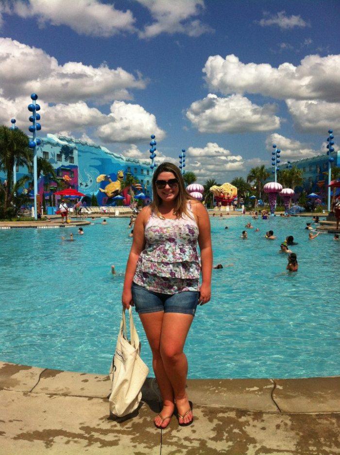O primeiro hotel que fiquei em Orlando era o Disney Art´s of Animation