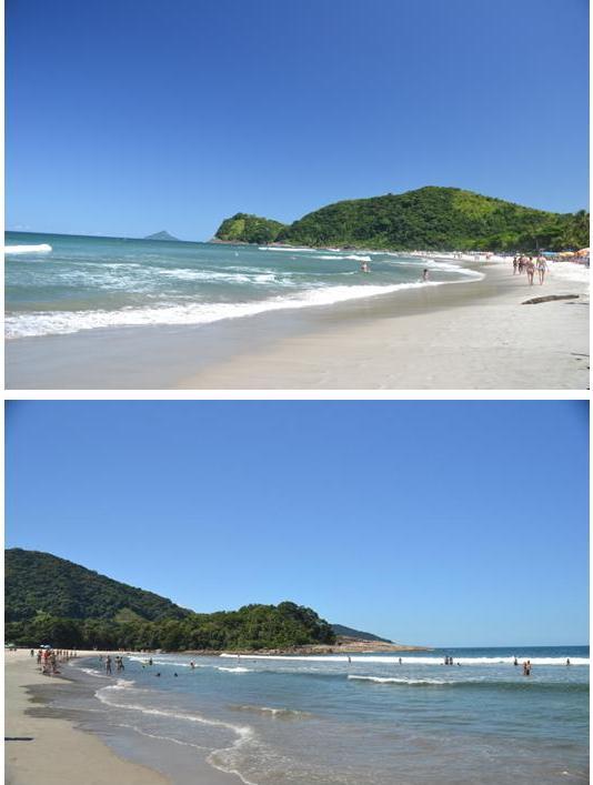 Os dois lados da praia