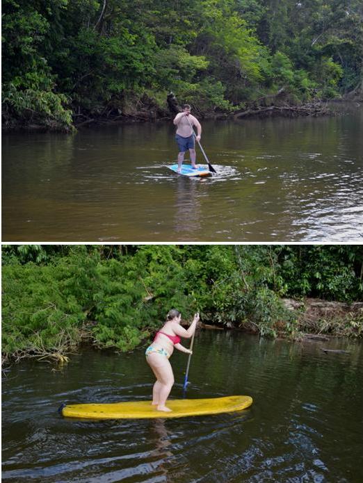 Rodrigo e eu no stand up paddle