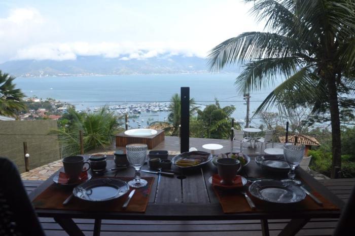 A vista do café da manhã